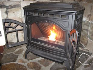 Quadra-Fire stove at Environmental Learning Center